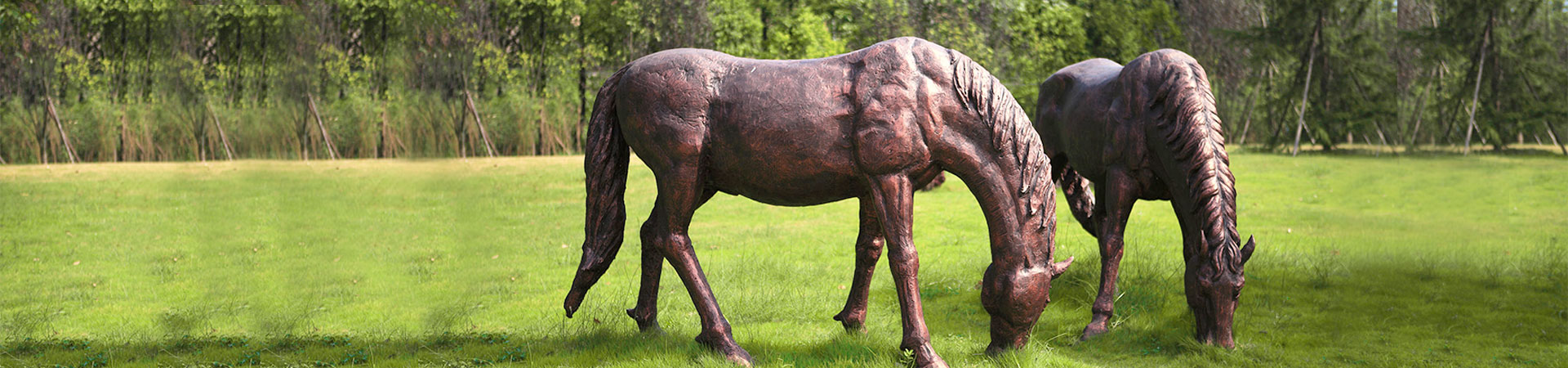 outdoor life size horse Statues