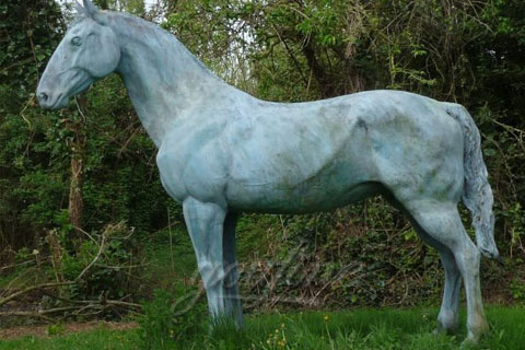 Garden Decoration Casting standing Bronze Horse Statues