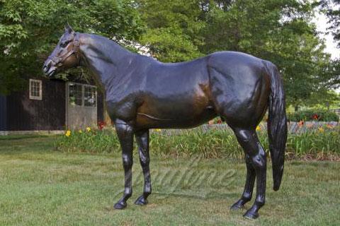 Garden decoration bronze standing horse statue
