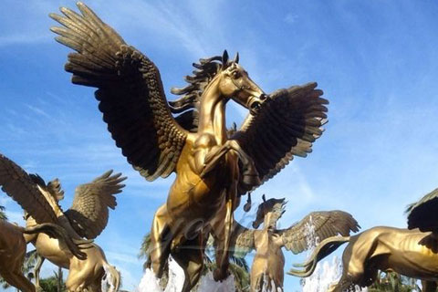 Life Size Bronze Wing Horse Statue for Garden