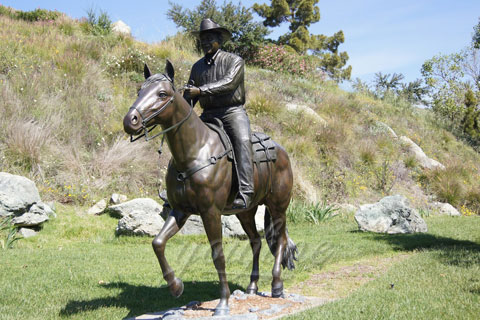 Life Size Bronze riding horse Statues