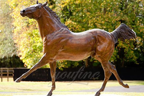 Majestic bronze standing horse statues for garden