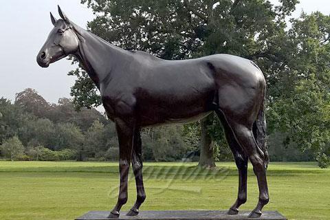 Wonderful horse bronze standing sculpture