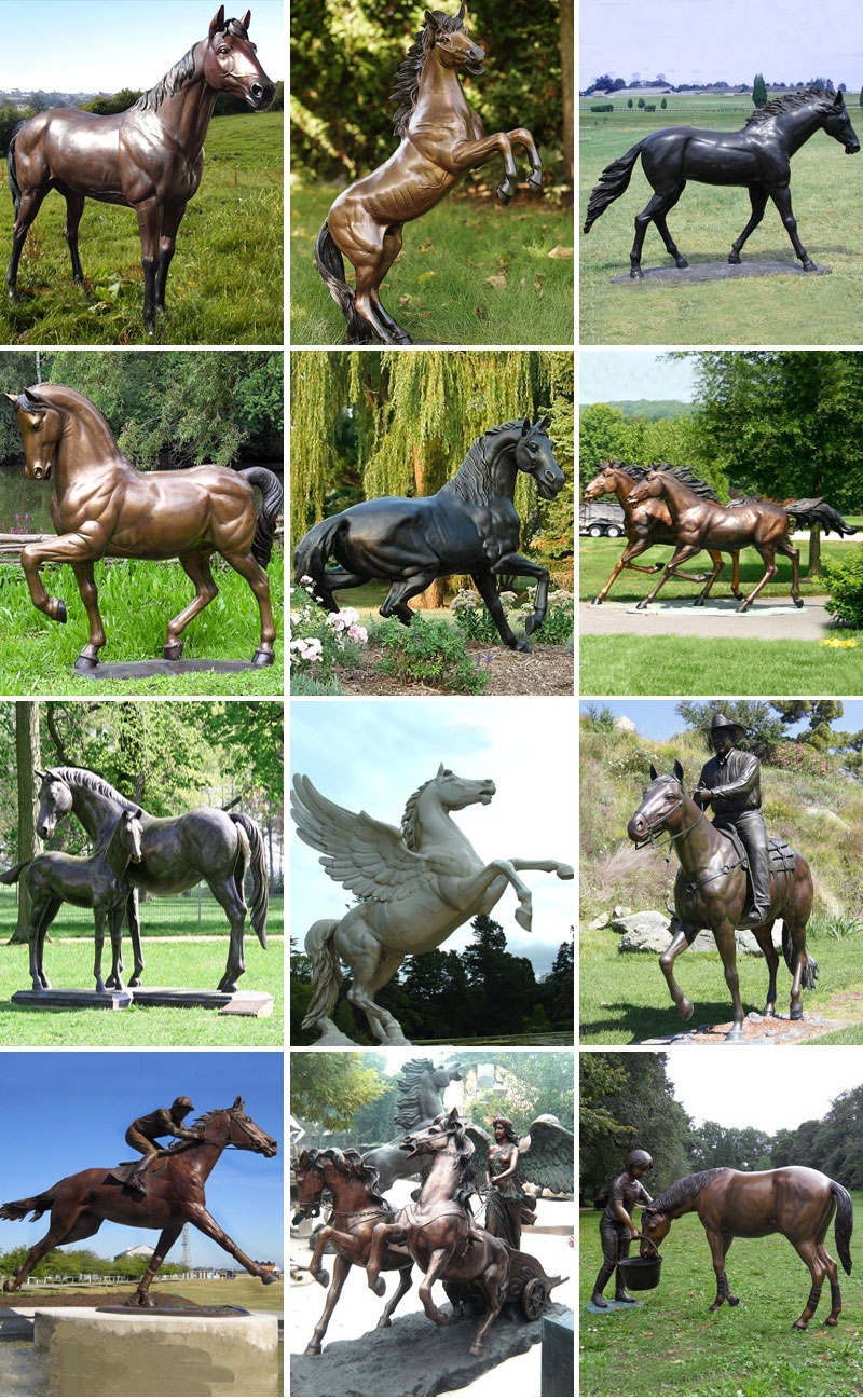 Hot sale outdoor large casting bronze running horse ...