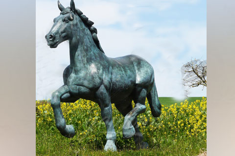 Hot sell life size large antique bronze horse statues