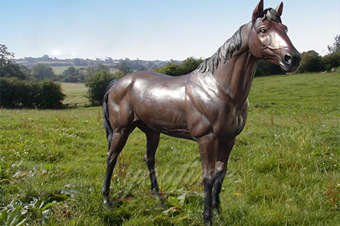Outdoor Garden Decorative Antique Bronze Standing Horse Statues