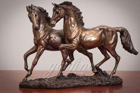 Cheap antique bronze horse figurine for home decor on sale