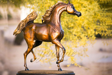 Factory wholesale cast metal bronze horse figurines for indoor ornament