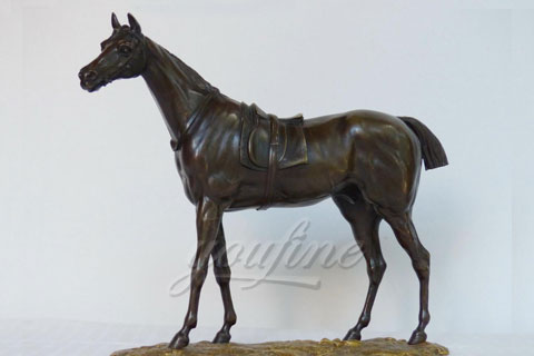 Factory wholesale metal animal bronze horse figurine for indoor decoration