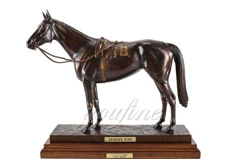 Hot sale metal animal bronze horse figurine for indoor decoration