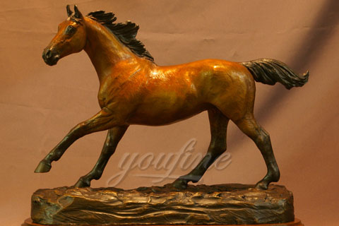 Hot sale production life size bronze horse figurine sculpture