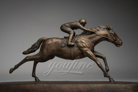 Popular bronze race horse sculpture for sale