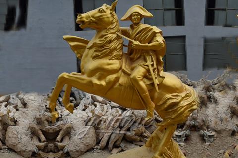 Napoleon riding horse statue