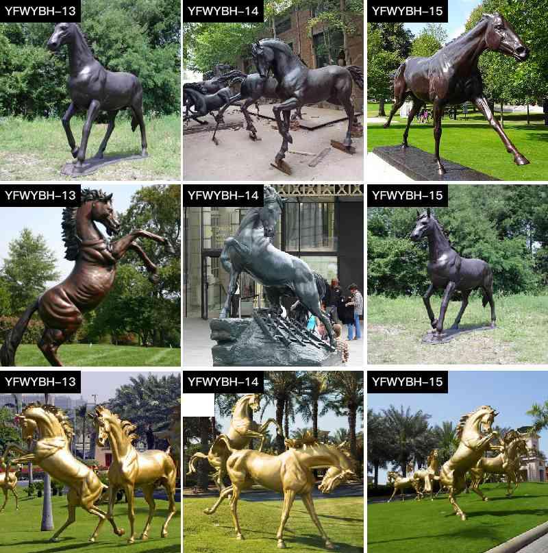 Casting Bronze Standing Horse Sculpture for Sale