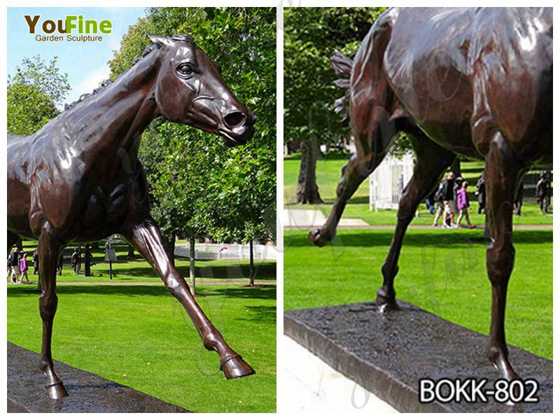 Life Size Bronze Standing Horse Sculpture for Sale