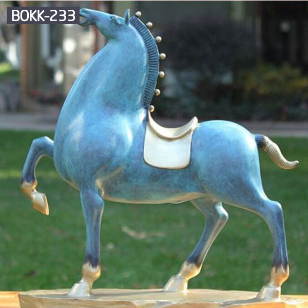 Life Size Bronze Chinese Tang Standing Horse Statue Factory Supply