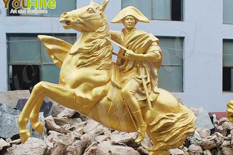 Life Size Bronze Knight and Horse Sculpture