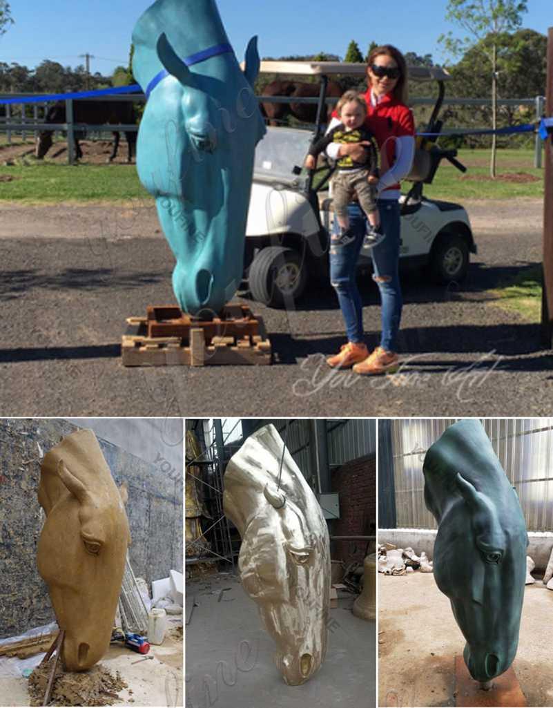 Bronze horse garden sculpture for sale