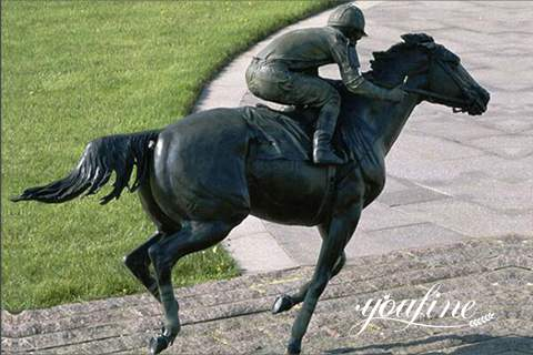 Life Size Bronze Racing Horse Statue for Sale